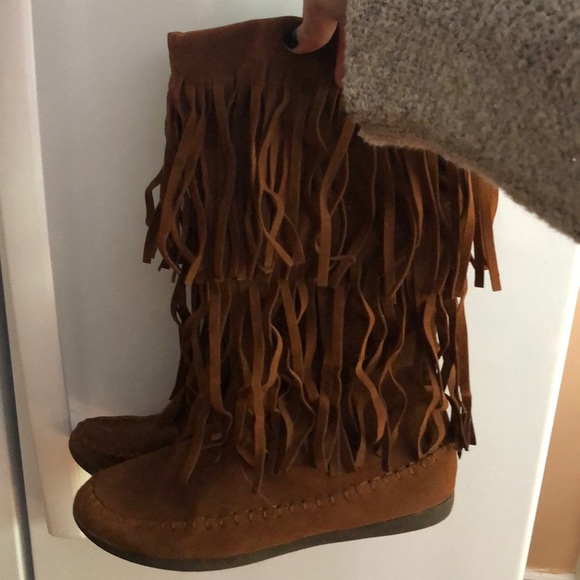 uk availability best value wholesale price Women's Rampage Fringe Boots